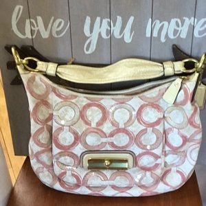 Coach Kristin Sequin Satchel